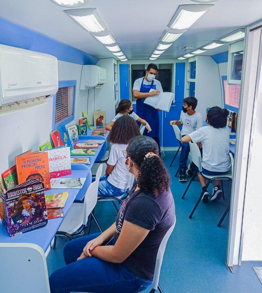 """BRK Ambiental apresenta o projeto socioambiental """"Livros nas Praças ao Ar Livre"""" em Araguaína (Foto: Divulgação)"""