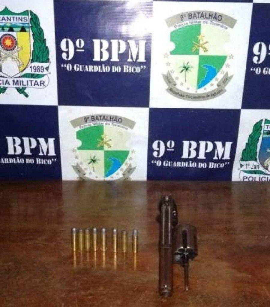 Arma apreendida pela PM em Augustinópolis