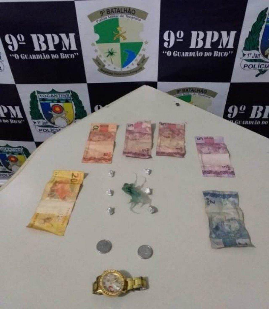 Objetos apreendidos pela PM em poder da menor em Araguatins