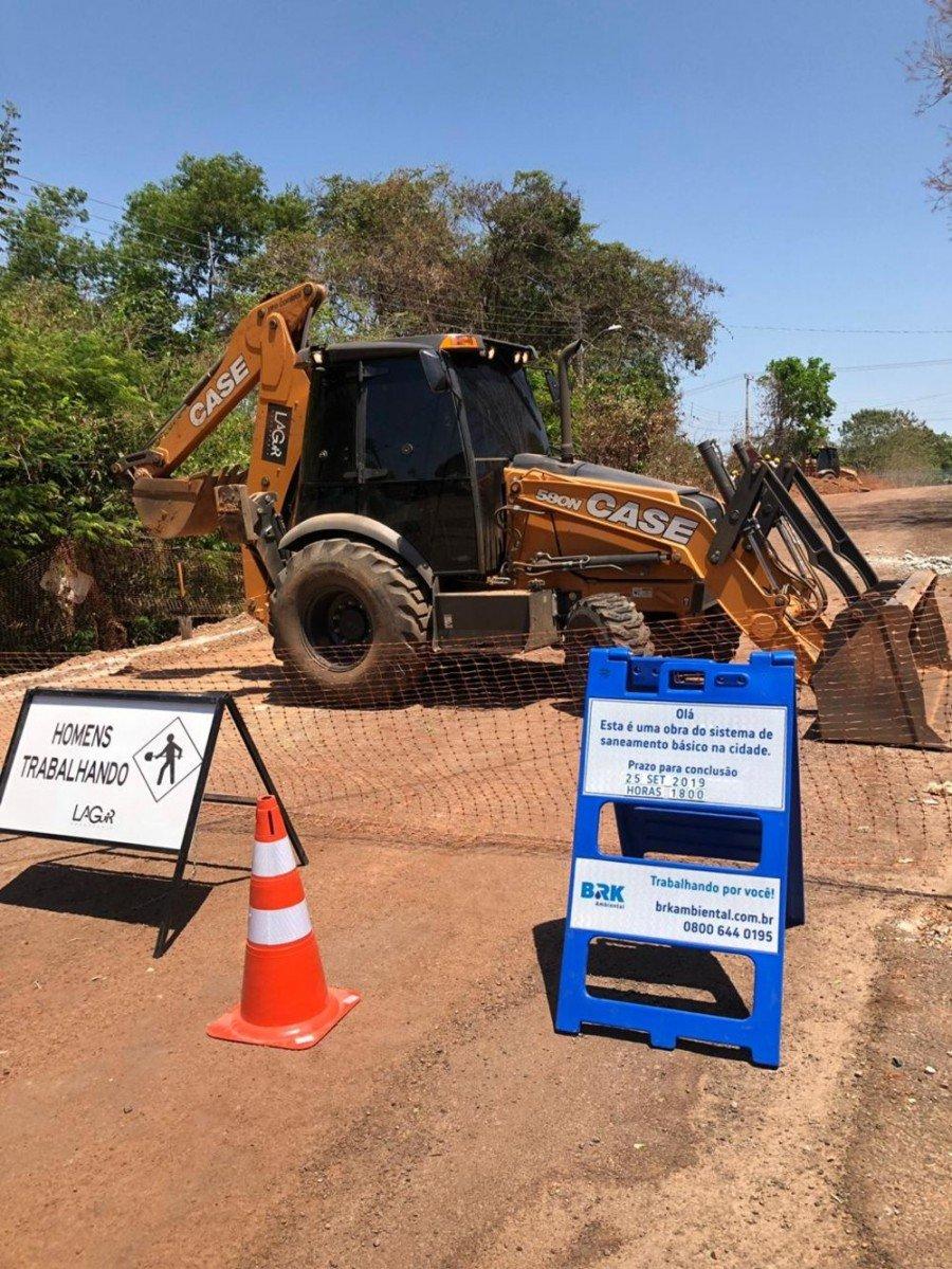 Confira o cronograma das obras de esgoto em Gurupi na semana de 30 de agosto a 4 de setembro (Foto: Divulgação/BRK Ambiental)