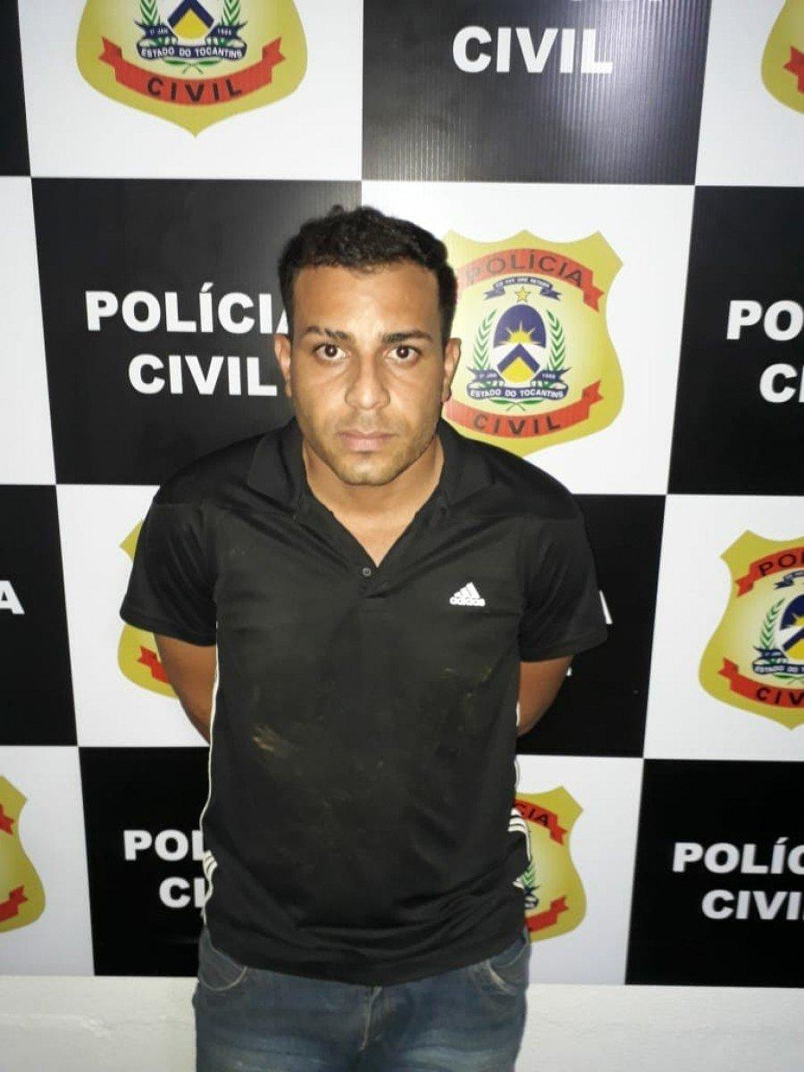Marcelo Victor, suspeito de tráfico e preso pela Polícia Civil, em Paraíso do Tocantins