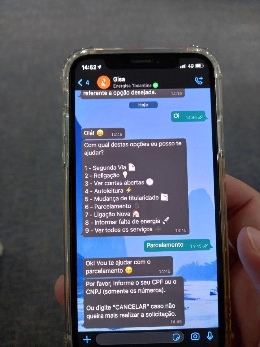 Clientes podem negociar pelo WhatsApp, site e aplicativo Energisa On (Foto: Divulgação/Energisa)