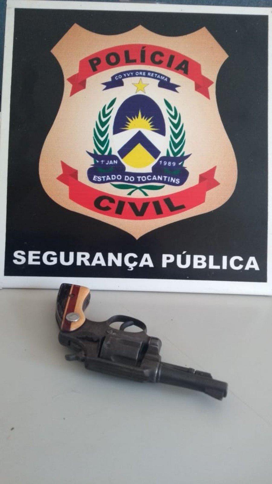 Arma de fogo apreendida pela Polícia Civil