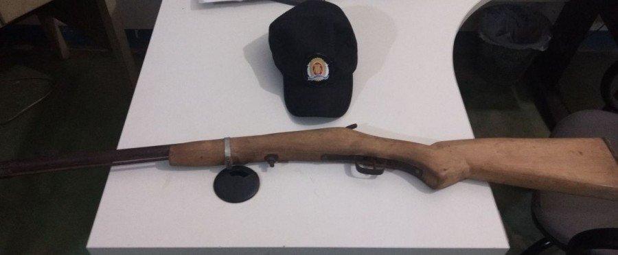 Arma apreendida pela PM em Sítio Novo