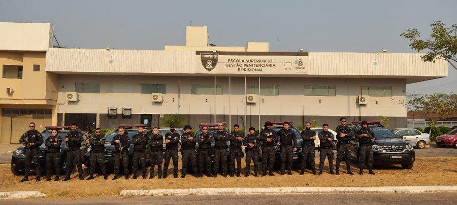 A Operação Aquiles contou com todo o efetivo da Unidade Especializada em Monitoramento de Pessoas (Foto: Divulgação/Seciju)