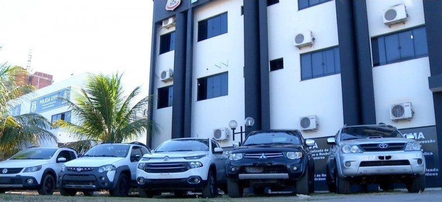 Carros foram apreendidos nas ruas de Palmas