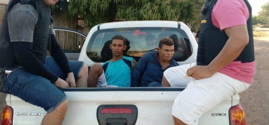 uspeitos de matar adolecente foram capturados em Xinguara-PA (Foto: Divulgação/Polícia Civil)