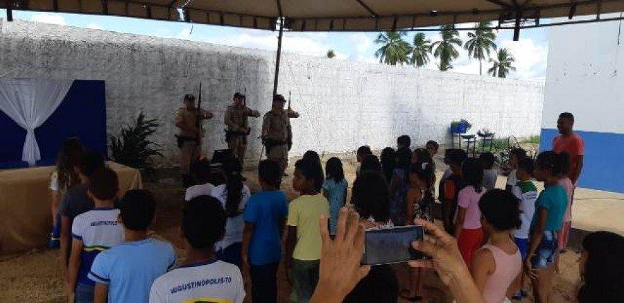 Projeto Cidadão do Futuro beneficiou mais de 30 alunos da escola Jarbas Passarinho no povoado Vinte Mil, em Augustinópolis