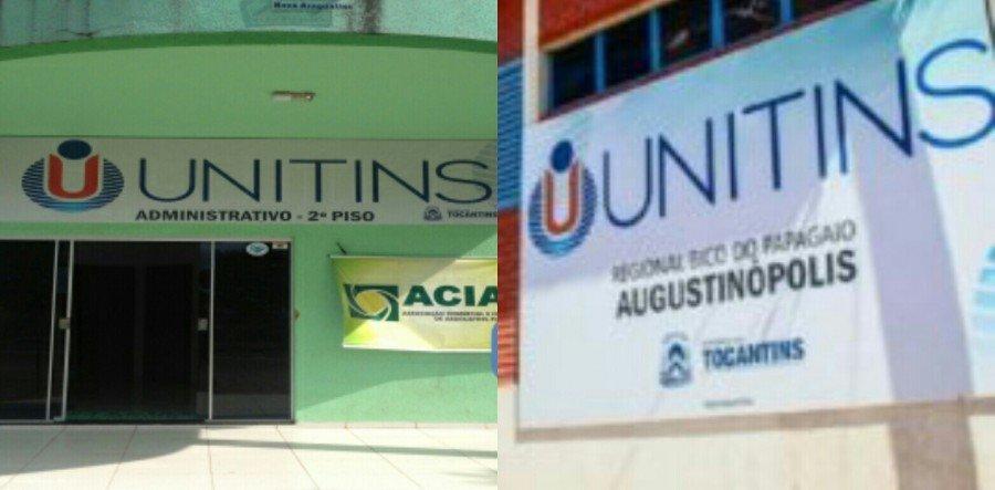 No Bico do Papagaio, Unitins ofertou 80 vagas para o Câmpus de Araguatins, e 120 para o Câmpus de Augustinópolis