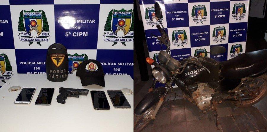 Grupo suspeito de praticar roubos em Assentamento foi preso pela PM em Aguiarnópolis