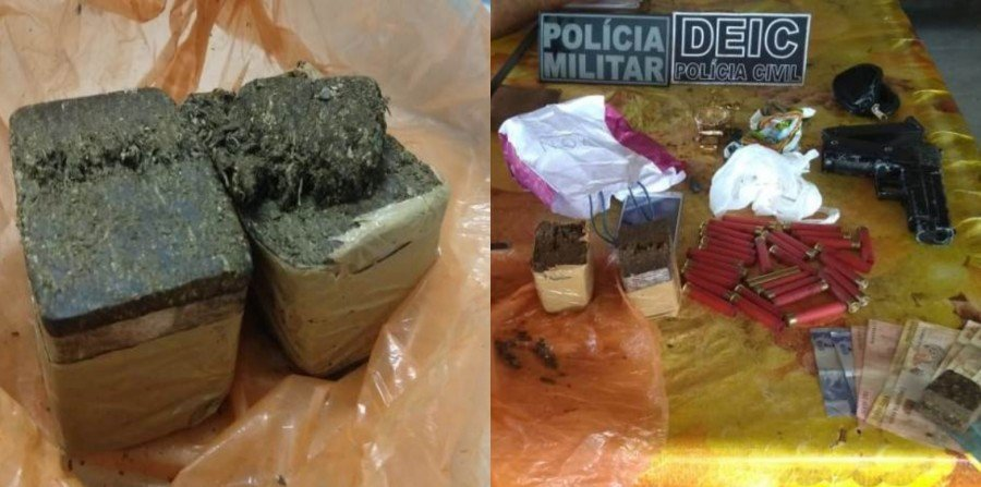 Operação conjunta entre as polícias Militar e Civil, prenderam cinco indivíduos acusados de praticar diversos crimes em Sampaio e Praia Norte