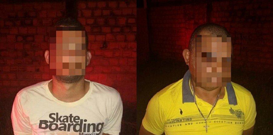 Dois homens suspeitos de tentar matar jovem a tiros em bar foram presos pela Polícia Militar em Araguaína