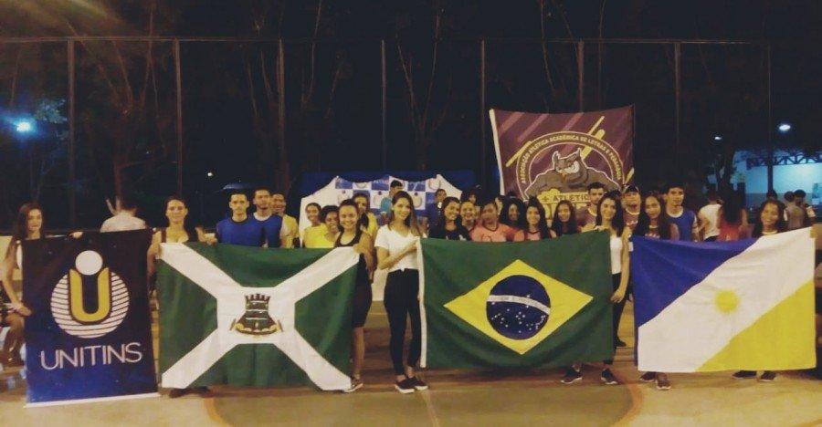 Solenidade de abertura contou enorme envolvimento dos atletas e comunidade acadêmica (Foto: Divulgação /Ascom Unitins)