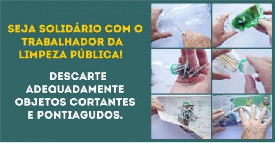 Descarte incorreto de objetos cortantes e pontiagudos tem causado acidentes com trabalhadores da limpeza pública