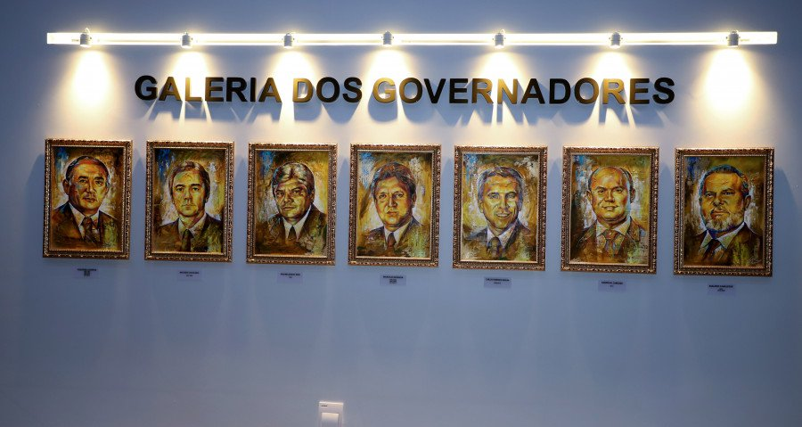 Galeria dos Governadores constitui um espaço que reúne quadros com fotos de todos os ex-governadores do Estado (Foto: Esequias Araújo)