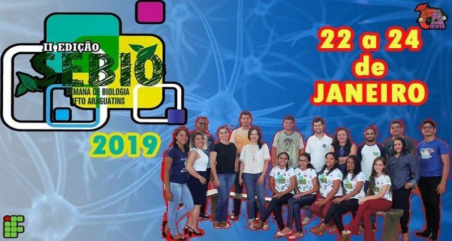 II Semana da Biologia do IFTO ocorrerá no período de 22 a 24 de janeiro