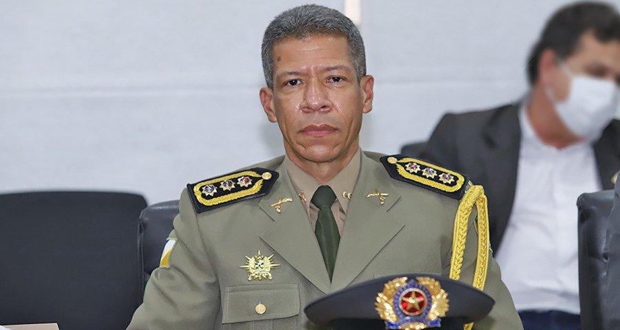 Comandante-geral da PM, coronel Silva Neto (Foto: Esequias Araújo)