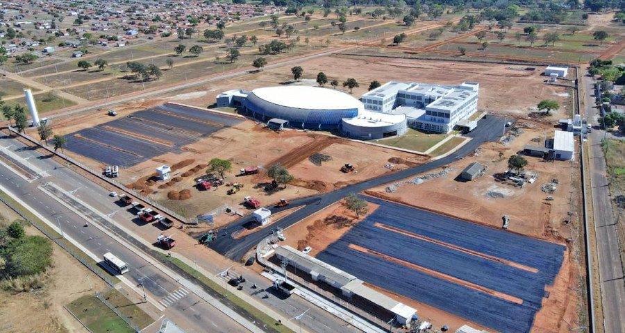 Obras do Hospital de Gurupi estão em ritmo acelerado (Foto: Esequias Araújo)