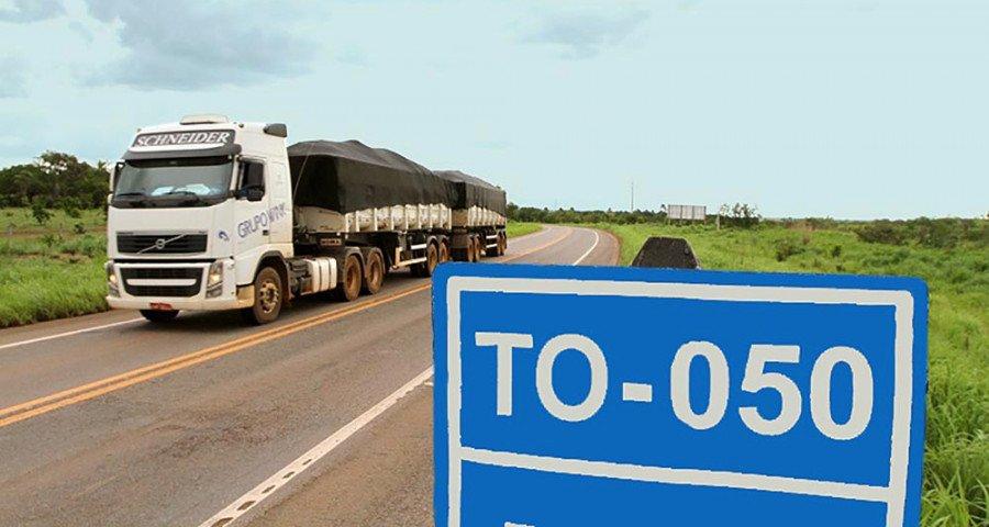 Escoamento da produção passa pelas rodovias do Estado, são mais de 13 mil km (Foto: Governo do Tocantins)