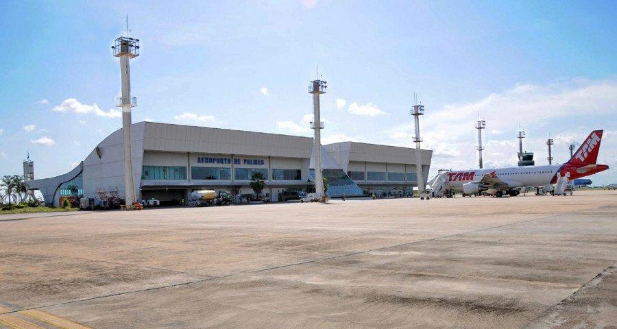 O Aeroporto de Palmas possui a maior área aeroportuária do país, própria para instalação de empresas que usam esse tipo de transporte