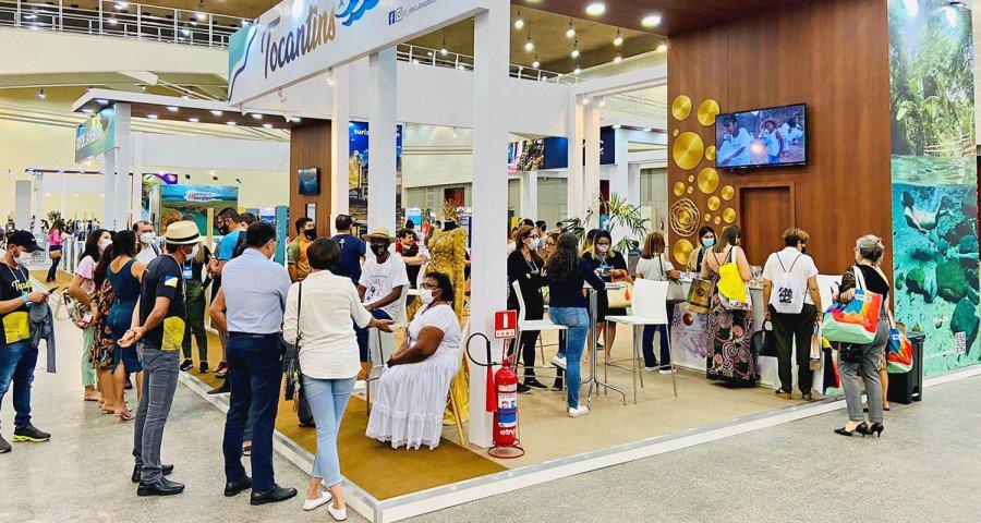 Governo do Tocantins apresentou os roteiros e atrativos culturais tocantinenses, apoiando mais de 30 empresas e instituições ligadas ao trade turístico que participaram da ABAV Expo & Collab 2021 (Foto: Henrique Lopes)