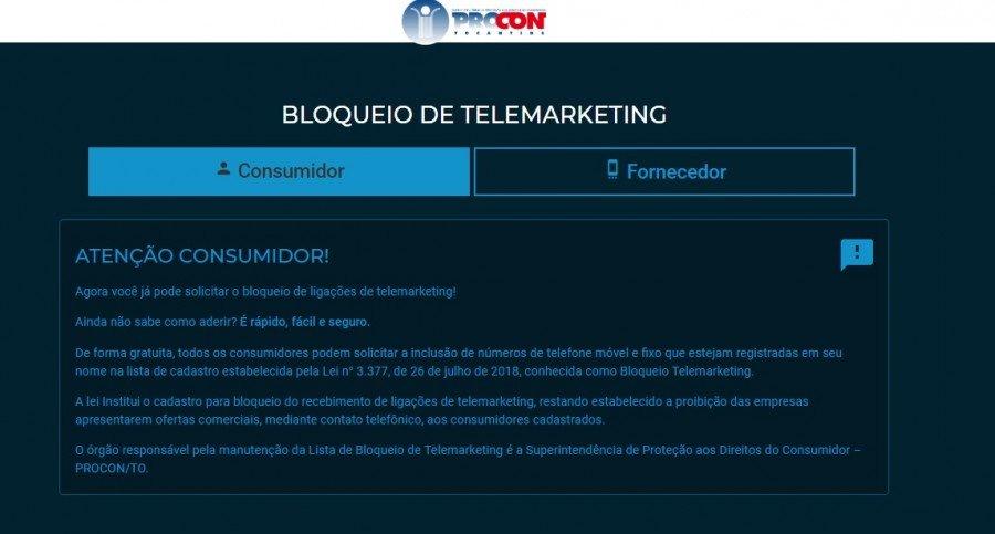 Sistema de Bloqueio de ligações de telemarketing já está disponível (Foto:Divulgação Procon)