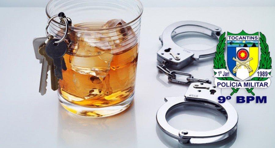Motociclista foi detido pela PM por pilotar embriagado em Araguatins (Foto: Divulgação)