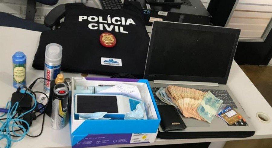Objetos recuperados pela Polícia Civil em Pequizeiro
