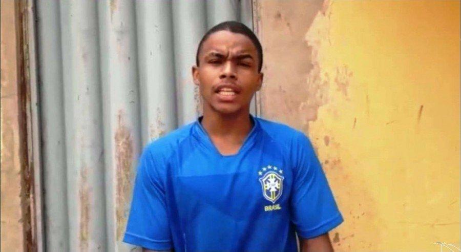 Segundo a polícia, Luís Fernando tem uma extensa ficha policial por envolvimentos em assaltos a mão armada (Foto: Reprodução/TV Mirante)