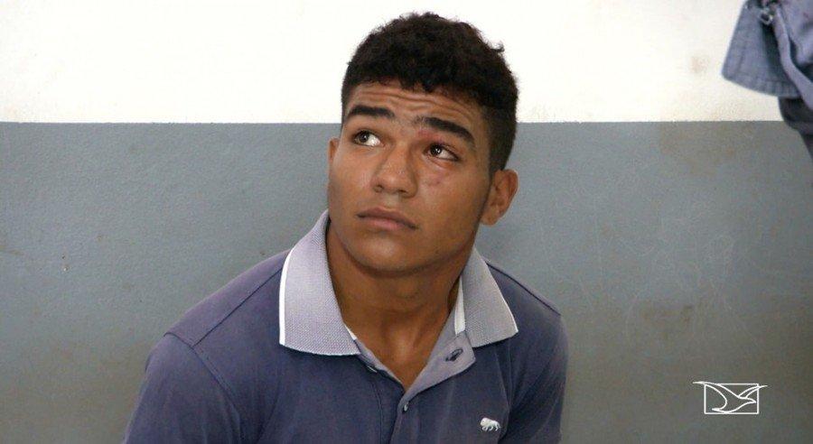 Manoel Natalino da Silva Neto foi preso por suspeita de ter matado a ex-namorada com golpe de faca em Caxias-MA (Foto: Reprodução/TV Mirante)