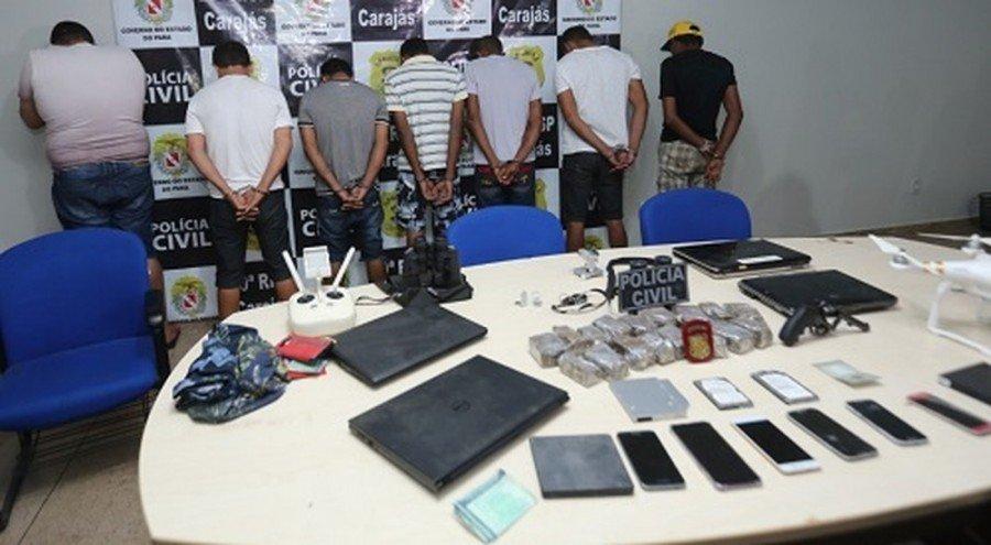 Polícia Civil prendeu dez homens e apreendeu maconha, armas de fogo e outros objetos durante Operação Carajás, em Marabá-PA