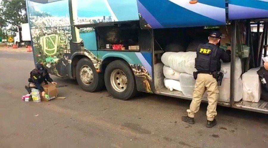 A mercadoria saiu de Goiânia-GO e iria para Imperatriz-MA (Foto: Divulgação/PRF)