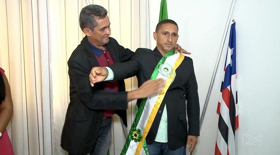 Após a prisão do vice-prefeito, Raimundo Nonato Martins (PRB) assumiu a prefeitura da cidade (Foto: Reprodução / TV Mirante)