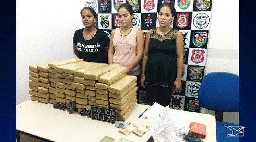 Irmãs foram levadas para a Delegacia da Polícia Civil de Imperatriz (Foto: Reprodução/TV Mirante)