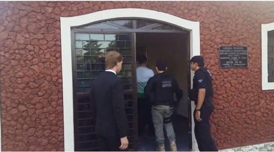 Polícia investiga esquema de propina na Câmara de Augustinópolis (Foto: Lucas Ferreira/ TV Anhanguera)