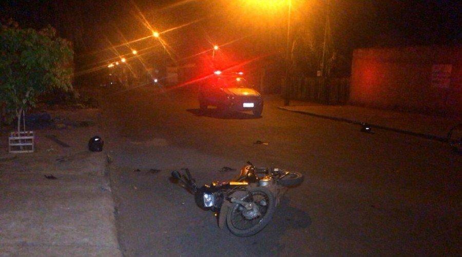 Com apoio da Comunidade, adolescente foi detido por tentativa de roubo e moto foi apreendida pela Polícia Militar em Araguaína