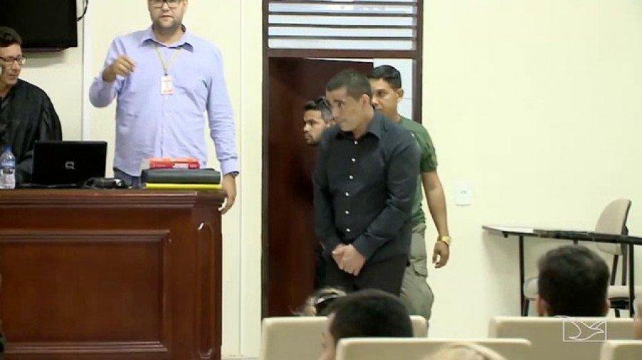 Homem foi condenado por matar ex-esposa a tiros em Imperatriz (Foto: Reprodução/TV Mirante)