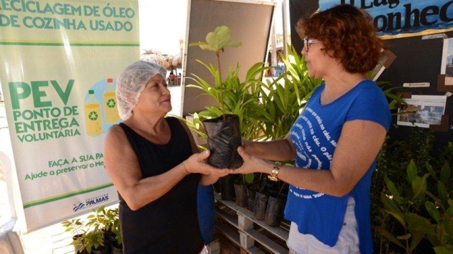 O cidadão ainda poderá trocar cada litro por uma muda de árvore, frutífera ou nativa do cerrado