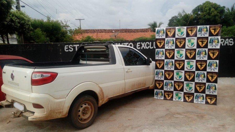 Veículo apreendido pela Força Tática no povoado Taquarizinho