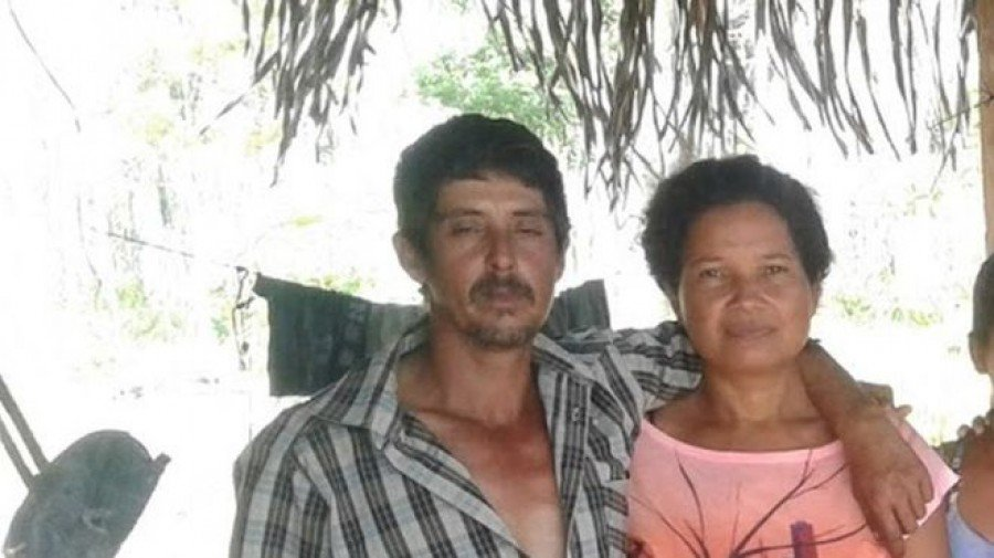 Eidi e Romildo morreram ao tentar fugir das chamas no Assentamento Galo Velho (Foto: Arquivo Pessoal)