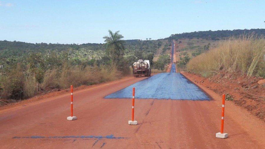 Trecho da TO-126 do Entorncamento da BR-230 até Tocantinópolis teve reconstrução de asfalto iniciada nesta semana