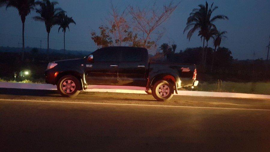 Veículo recuperado pela PM na BR-153