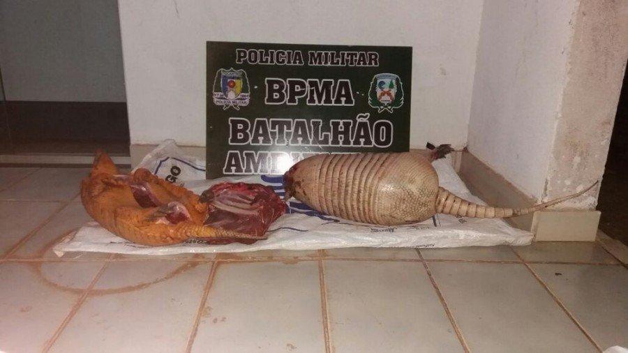 Homem foi multado em R$ 1,5 mil por crime ambiental (Foto: BPMA/Divulgação )