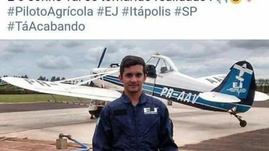 Piloto do Tocantins morreu em acidente no interior de São Paulo