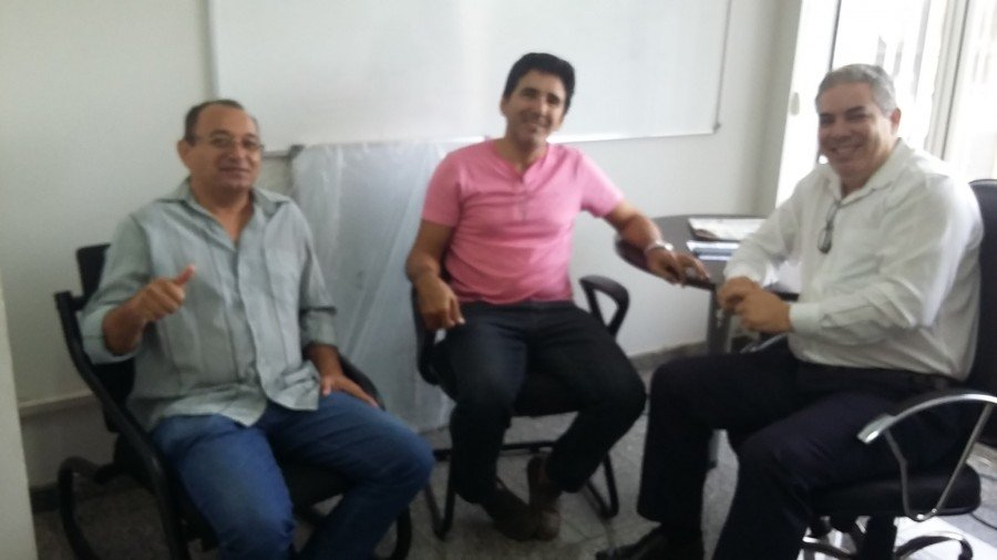 Pré-candidato deputado estadual, Júnior Geo, Vereador de Palmas e Tenente Célio (Foto: Luzimar Lopes)
