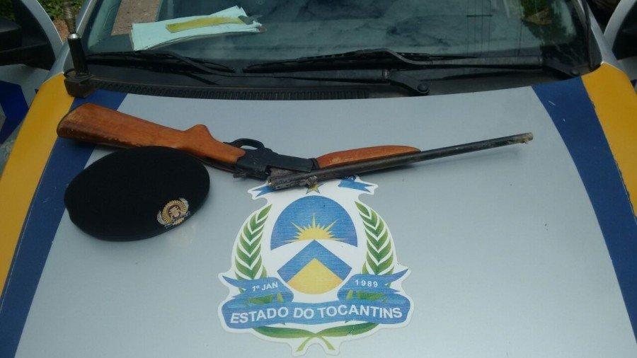 Arma apreendida em Muricilândia