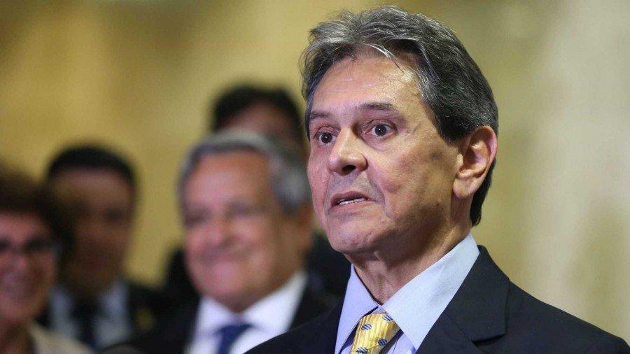 Pai da ministra nomeada Cristiane Brasil, presidente do PTB, Roberto Jefferson (Foto: Valter Campanato/Agência Brasil)
