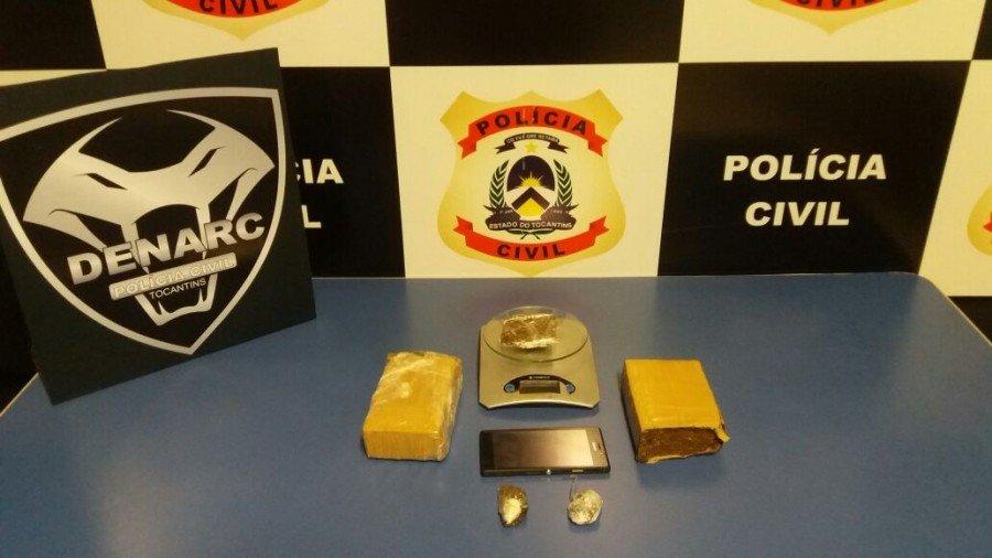 Drogas apreendidas pela Polícia Civil em Palmas