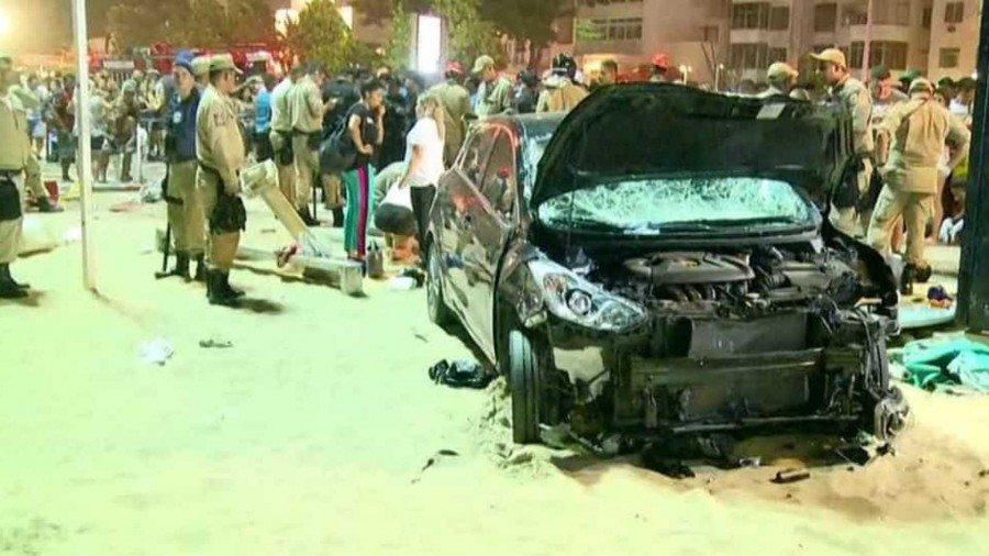 Acidente aconteceu por volta das 20h15 desta quinta-feira (Foto: Reprodução Globonews)