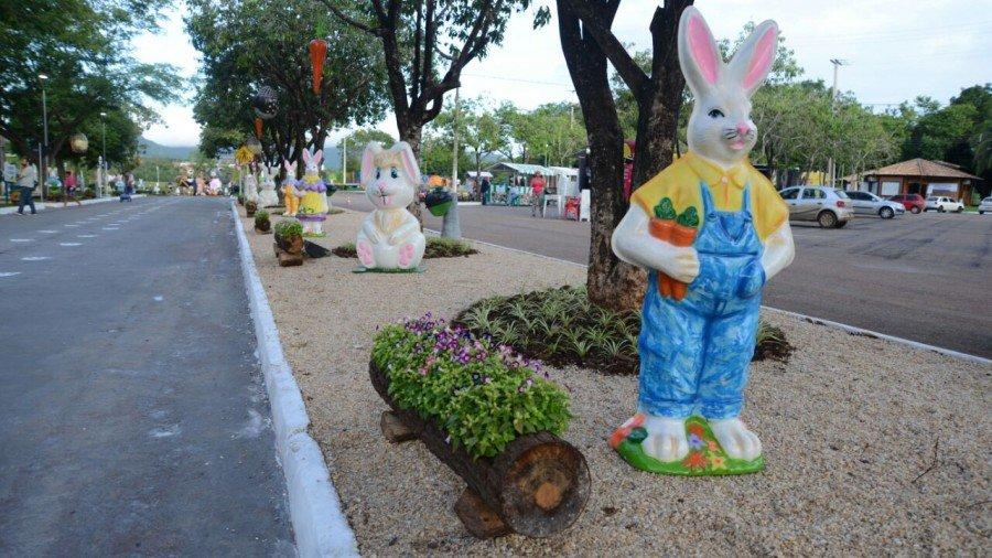 Parque Cesamar recebeu decoração temática (Foto: Luciana Pires)